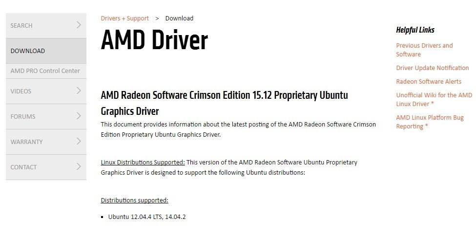 Установка драйверов AMD Ubuntu 17.04