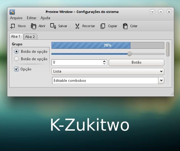 Тема KDE Plasma K-Zukitwo KDE