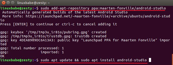 Установка Android Studio для Ubuntu - LinuxInsider ru
