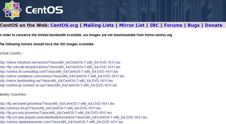 Установка CentOS 7