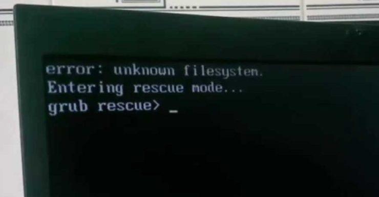 Ошибка Grub Rescue Unknown Filesystem