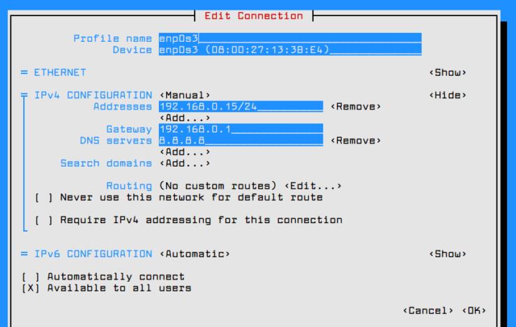Настройка сервера CentOS 7 после установки