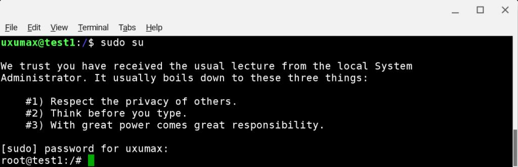Debian 9: переход в root