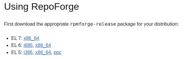 Список версий RepoForge